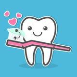 Dente e toothbrush Fotografie Stock