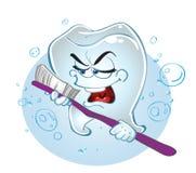 Dente inteligente do canto do vetor do dente ilustração royalty free