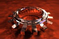 Dente metallico Fotografia Stock Libera da Diritti
