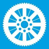 Dente per catena da bianco dell'icona della bici Immagini Stock