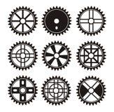 Dente per catena della bicicletta Fotografia Stock
