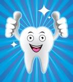 dente sorridente del fumetto Fotografia Stock