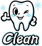 Dente sorridente felice (pulito) Fotografia Stock Libera da Diritti