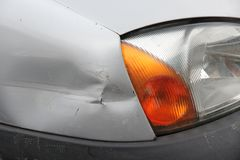 Dented car Royalty Free Stock Images