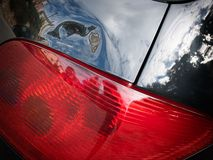 Dented tailgate Royalty Free Stock Photography