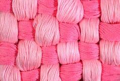 Dentelez les écheveaux tordus de la soie comme texture de fond Images stock