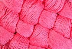 Dentelez les écheveaux tordus de la soie comme texture de fond Photographie stock libre de droits