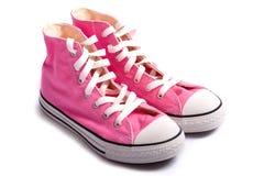 Dentelez les chaussures de basket-ball Photos stock