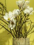 Dentelez les fleurs dans un vase Photo stock
