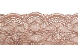 Dentelle beige de satin Images stock
