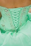 Dentelle de robe de corset photo stock