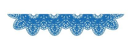 Dentelle de vecteur - nappe dans la couleur bleue Photographie stock libre de droits