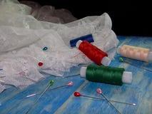 Dentelle et fil Image stock