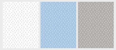 Dentelle tirée par la main Mesh Vector Pattern Set 3 diverses couleurs illustration stock