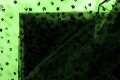 Dentelle verte sur le fond blanc Écoutez le mince et féminin Photos libres de droits