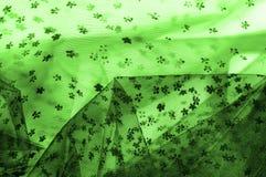 Dentelle verte sur le fond blanc Écoutez le mince et féminin Photo libre de droits