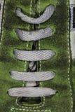 Dentelles de la chaussure Image stock
