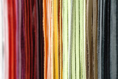 Dentelles en cuir colorées multi Photographie stock libre de droits