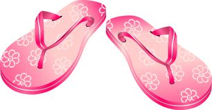Dentelli i flip-flop Fotografia Stock