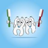Dentes afortunados Fotos de Stock Royalty Free