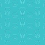 Dentes brancos em um fundo azul Teste padrão sem emenda dental do vetor Foto de Stock Royalty Free