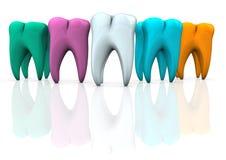 Dentes coloridos Imagem de Stock