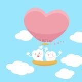 Dentes com o balão de ar quente Imagem de Stock