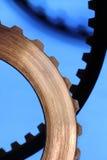 Dentes de engrenagem Foto de Stock