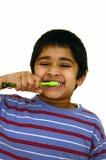 Dentes de escovadela Imagem de Stock Royalty Free