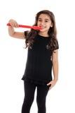 Dentes de escovadela da criança Fotos de Stock Royalty Free