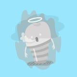 Dentes de morte dos desenhos animados Fotografia de Stock