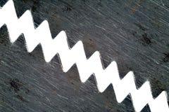 Dentes de uma serra Imagens de Stock