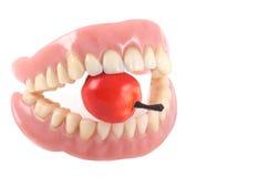 Dentes e maçã. Foto de Stock Royalty Free