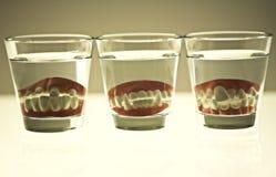 Dentes falsos Imagem de Stock Royalty Free