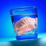 Dentes falsos Imagens de Stock