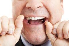 Dentes Flossing Fotografia de Stock Royalty Free