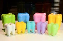 Dentes modelo coloridos Foto de Stock Royalty Free