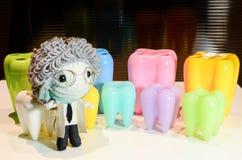 Dentes modelo coloridos Foto de Stock