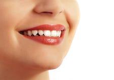 Dentes perfeitos e sorriso Fotos de Stock Royalty Free