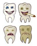 Dentes podres e fortes ilustração stock