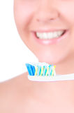 Dentes que whitening. Cuidado dental fotografia de stock