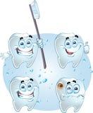 Dentes sorridenti di vettore Immagini Stock Libere da Diritti