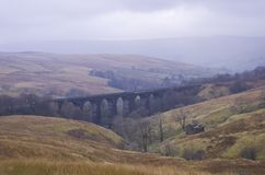 Denthead wiadukt. Yorkshire doliny, park narodowy obrazy royalty free