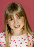Denti allentati della ragazza Fotografie Stock Libere da Diritti