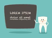 Denti bianchi di Business Card Healthy del dentista, vettore Fotografie Stock