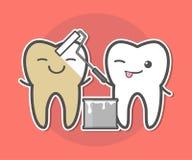 Denti che imbiancano concetto Fotografia Stock