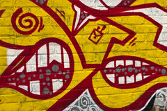 Denti dei graffiti Immagine Stock