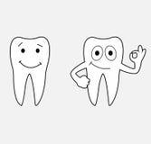 Denti del fumetto Fotografia Stock
