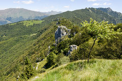 Denti della vecchia mountain over Lugano on Switzerland Stock Photos