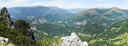 Denti della vecchia mountain over Lugano on Switzerland Royalty Free Stock Images